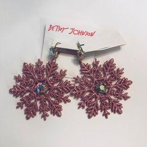 Betsey Johnson snow flake earrings.